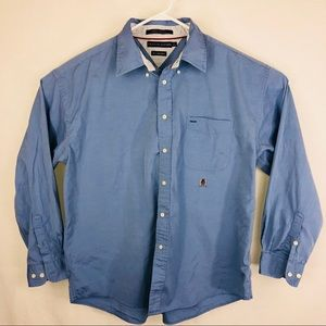 Vintage Tommy Hilfiger 80s 2 ply blue button down